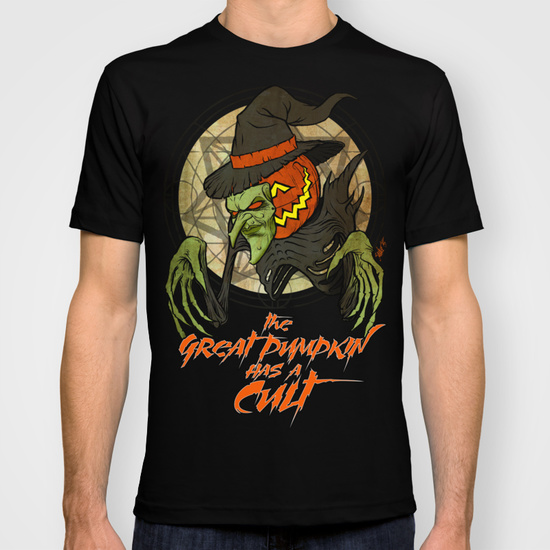 Cult of the Great Pumpkin: Witch Mask T-Shirt