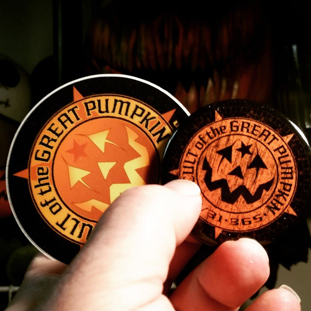 Cult of the Great Pumpkin Stickers and Buttons
