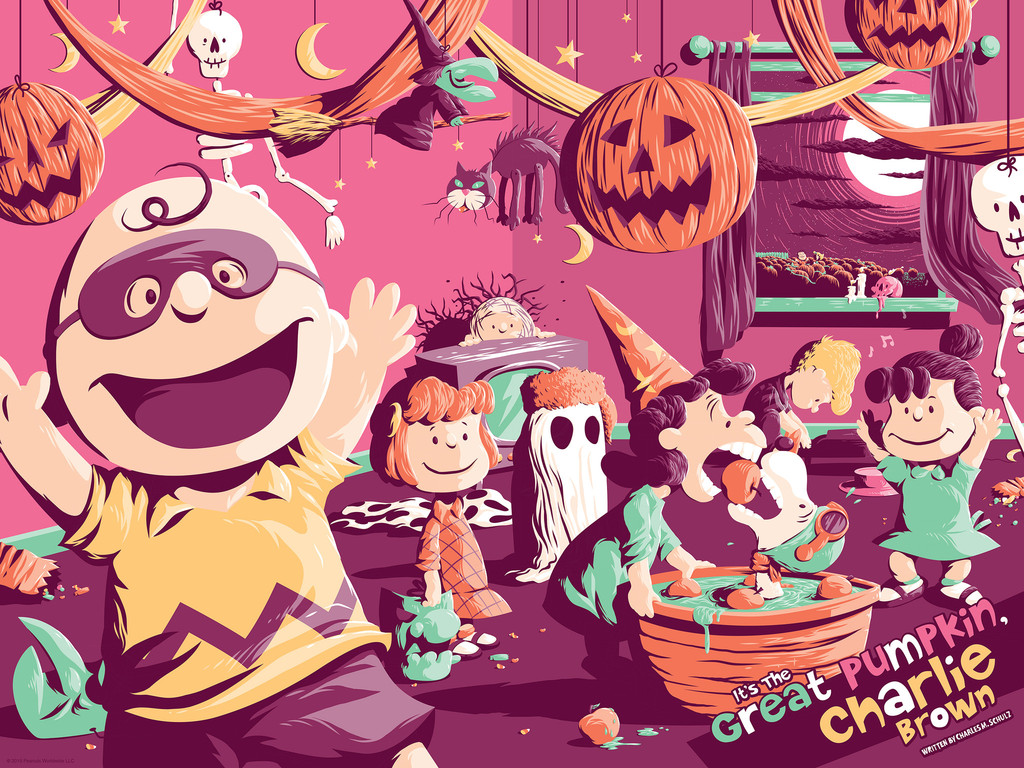 4bc220653 It's the Great Pumpkin, Charlie Brown - New Art Posters from Dark ...
