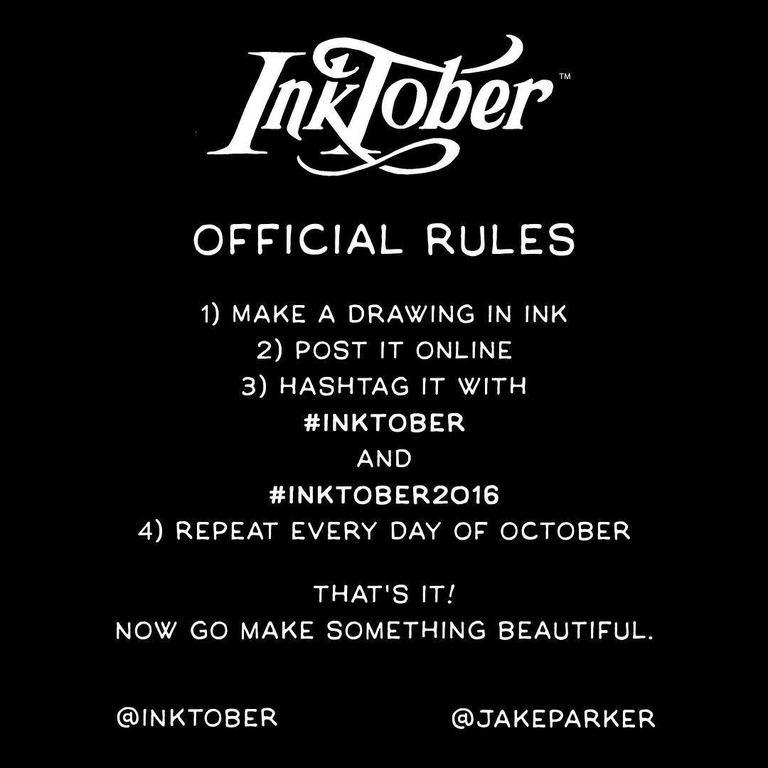 InkTober 2016 Rules