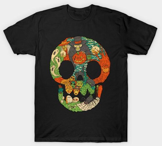 Spooky Skull - Chris Raimo - TeePublic