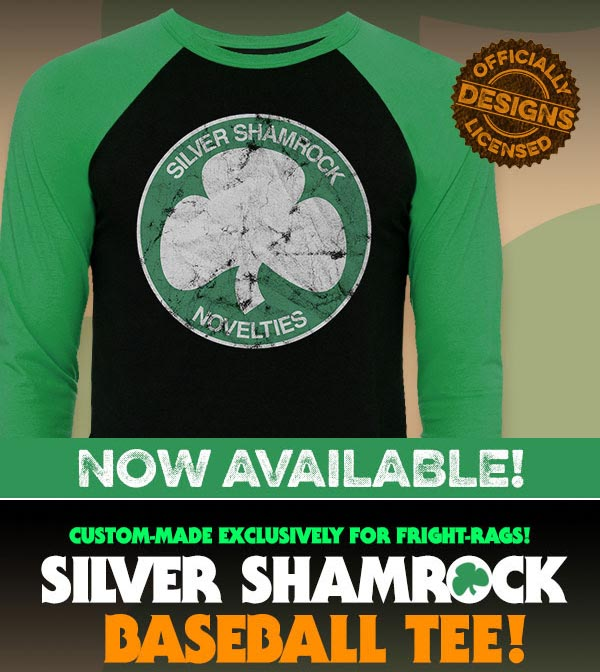 New Silver Shamrock Baseball Tee from Fright-Rags - Cult of