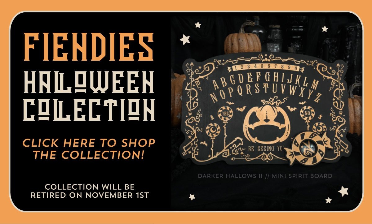 new halloween collection released at fiendies - cult of the